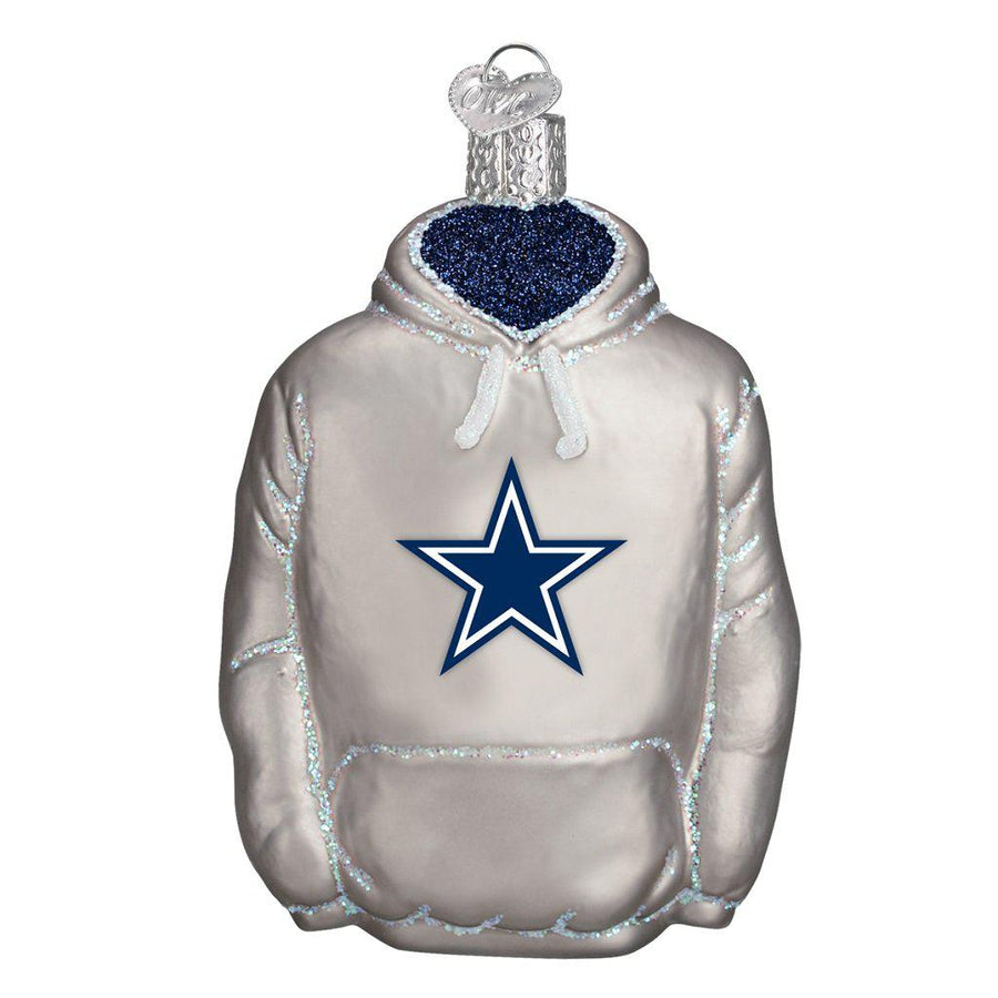 Dallas Cowboys Hand Blown Glass Hoodie Ornament-Ornament-Old World Christmas-Top Notch Gift Shop