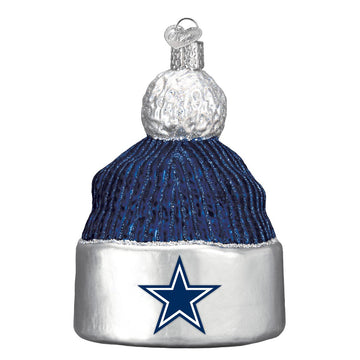 Dallas Cowboys Glass Beanie Christmas Ornament
