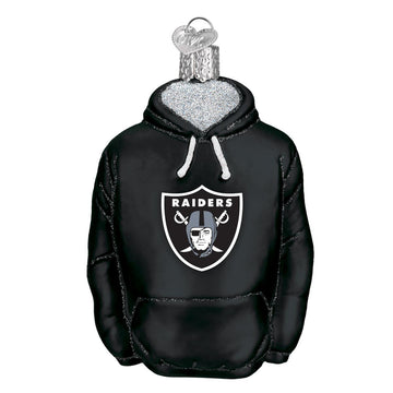 Las Vegas Raiders Glass Hoodie Christmas Ornament