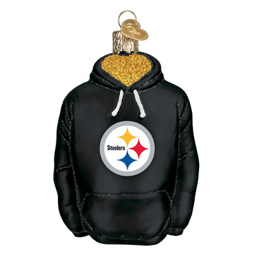 Pittsburgh Steelers  Glass Hoodie Christmas Ornament