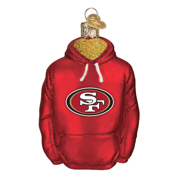 San Francisco 49ers Glass Hoodie Christmas Ornament-Ornament-Old World Christmas-Top Notch Gift Shop