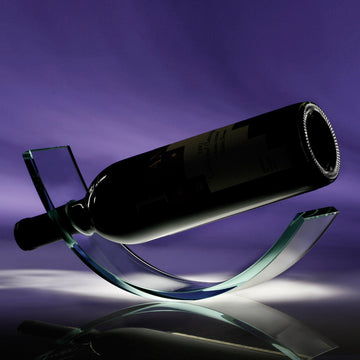 Crystal Wine Cradle - Personalized
