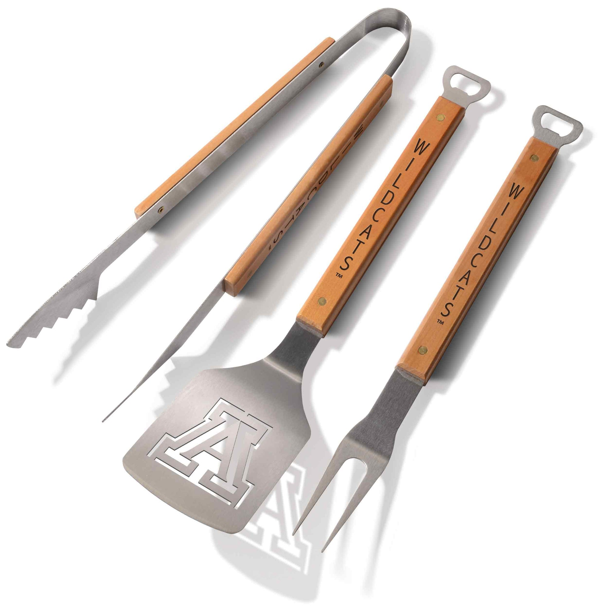 University of Arizona 3 Piece Sportula® BBQ Tool Set-Barbeque Tool-You The Fan-Top Notch Gift Shop