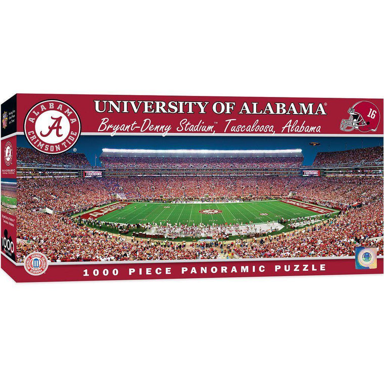 Alabama Crimson Tide Panoramic Stadium 1000 Piece Jigsaw Puzzle-MasterPieces Puzzle Company-Top Notch Gift Shop