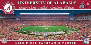 Alabama Crimson Tide Panoramic Stadium 1000 Piece Jigsaw Puzzle-Puzzle-MasterPieces Puzzle Company-Top Notch Gift Shop