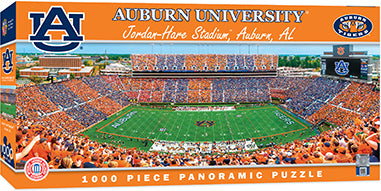 Auburn Tigers Panoramic Stadium 1000 Piece Jigsaw Puzzle-Puzzle-MasterPieces Puzzle Company-Top Notch Gift Shop