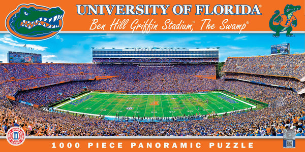 Florida Gators Panoramic Stadium 1000 Piece Jigsaw Puzzle-Puzzle-MasterPieces Puzzle Company-Top Notch Gift Shop