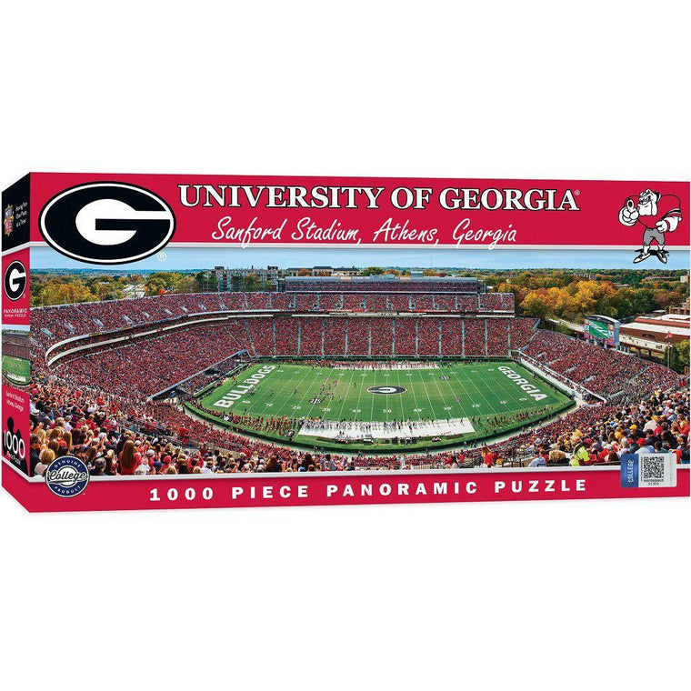 Georgia Panoramic Stadium 1000 Piece Jigsaw Puzzle-MasterPieces Puzzle Company-Top Notch Gift Shop
