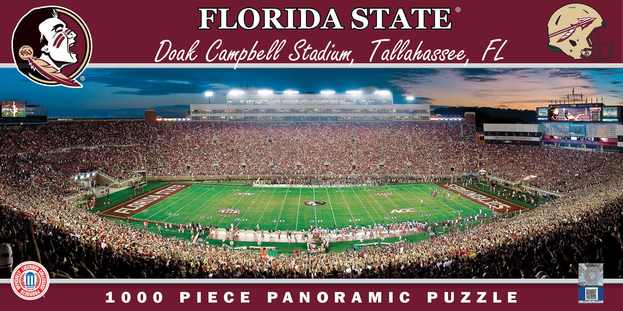 Florida State Seminoles Panoramic Stadium 1000 Piece Jigsaw Puzzle-Puzzle-MasterPieces Puzzle Company-Top Notch Gift Shop