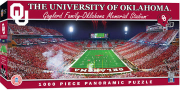 Oklahoma Sooners Panoramic Stadium 1000 Piece Jigsaw Puzzle