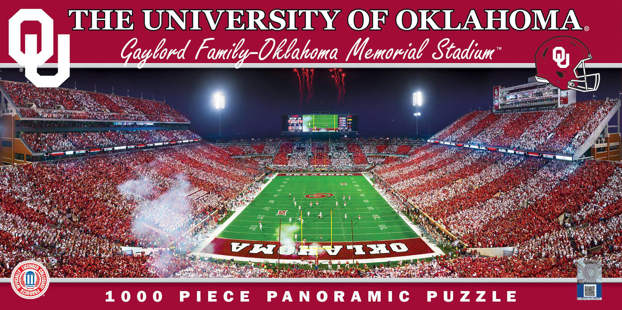 Oklahoma Sooners Panoramic Stadium 1000 Piece Jigsaw Puzzle-Puzzle-MasterPieces Puzzle Company-Top Notch Gift Shop