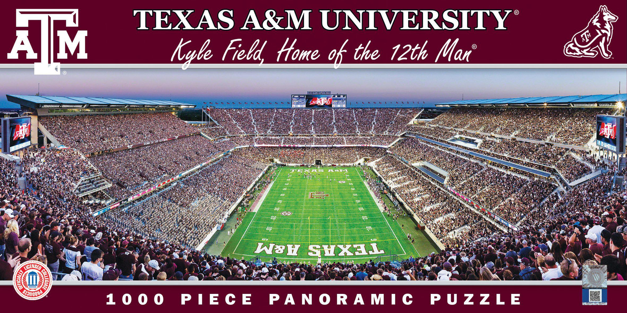 Texas A&M Aggies Kyle Field 1000 Piece Jigsaw Puzzle-Puzzle-MasterPieces Puzzle Company-Top Notch Gift Shop