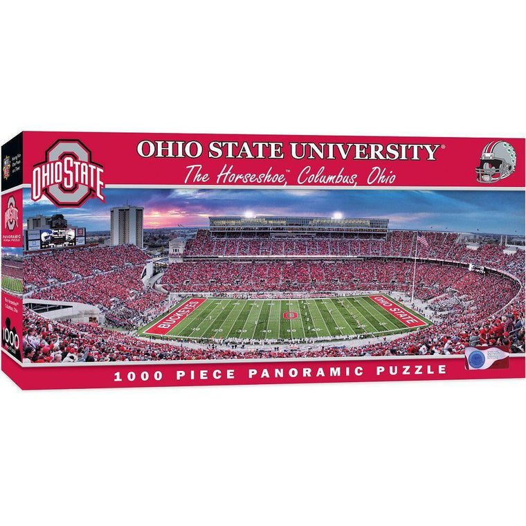 Ohio State Buckeyes Panoramic Stadium 1000 Piece Jigsaw Puzzle-MasterPieces Puzzle Company-Top Notch Gift Shop