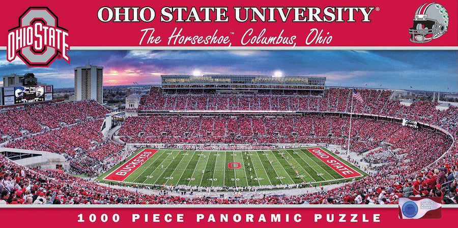 Ohio State Buckeyes Panoramic Stadium 1000 Piece Jigsaw Puzzle-Puzzle-MasterPieces Puzzle Company-Top Notch Gift Shop