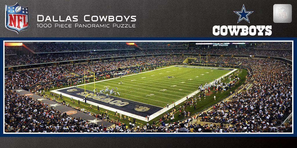 Dallas Cowboys Stadium 1,000 Piece Panoramic Puzzle-Puzzle-MasterPieces Puzzle Company-Top Notch Gift Shop