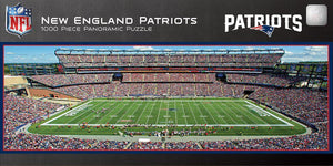 New England Patriots 1,000 Piece Panoramic Puzzle-Puzzle-MasterPieces Puzzle Company-Top Notch Gift Shop