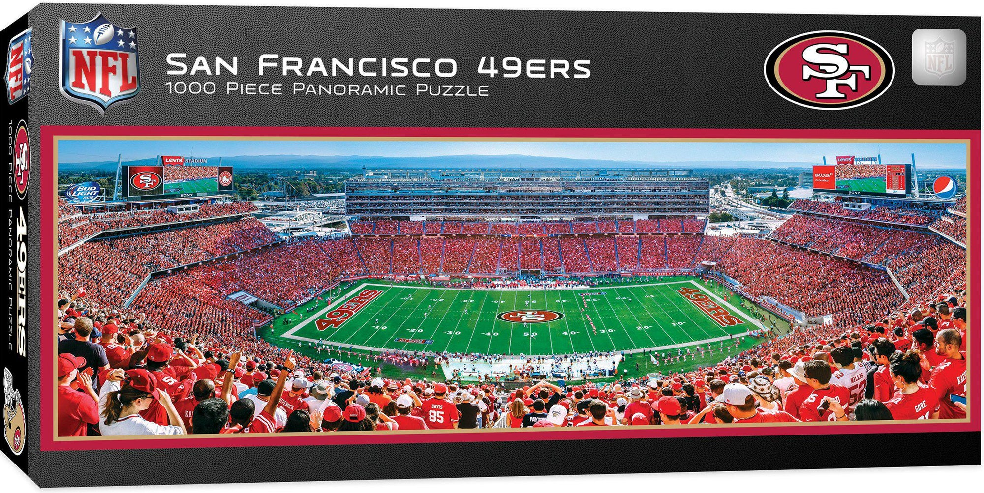 San Francisco 49ers 1,000 Piece Panoramic Puzzle-Puzzle-MasterPieces Puzzle Company-Top Notch Gift Shop