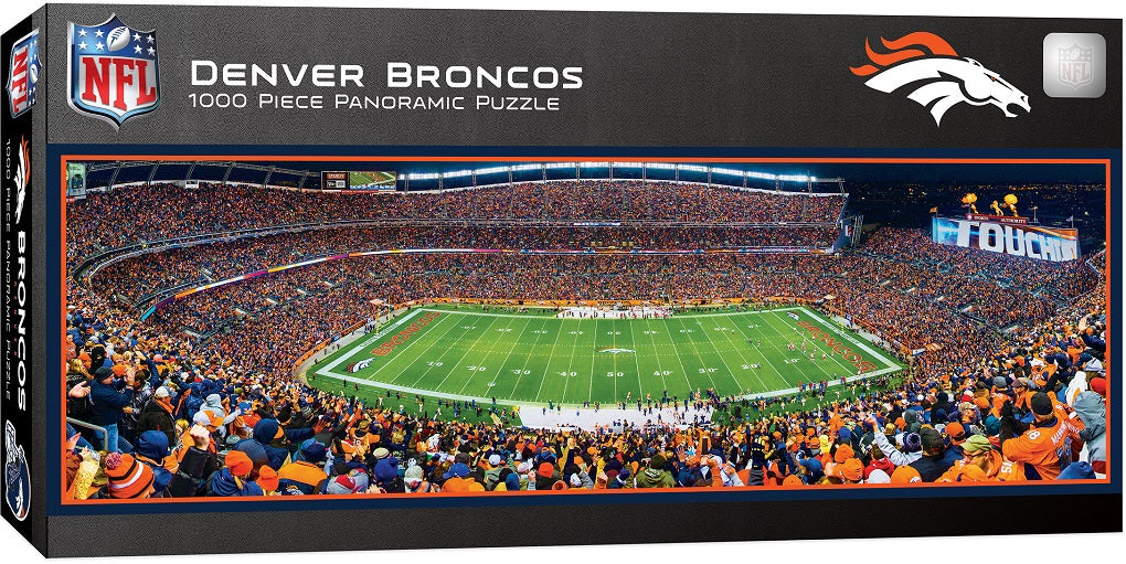 Denver Broncos 1,000 Piece Panoramic Puzzle-Puzzle-MasterPieces Puzzle Company-Top Notch Gift Shop