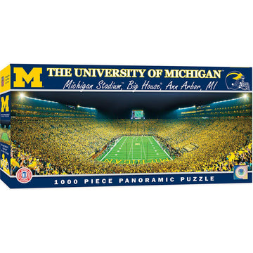 Michigan Wolverines Panoramic Stadium 1000 Piece  Puzzle