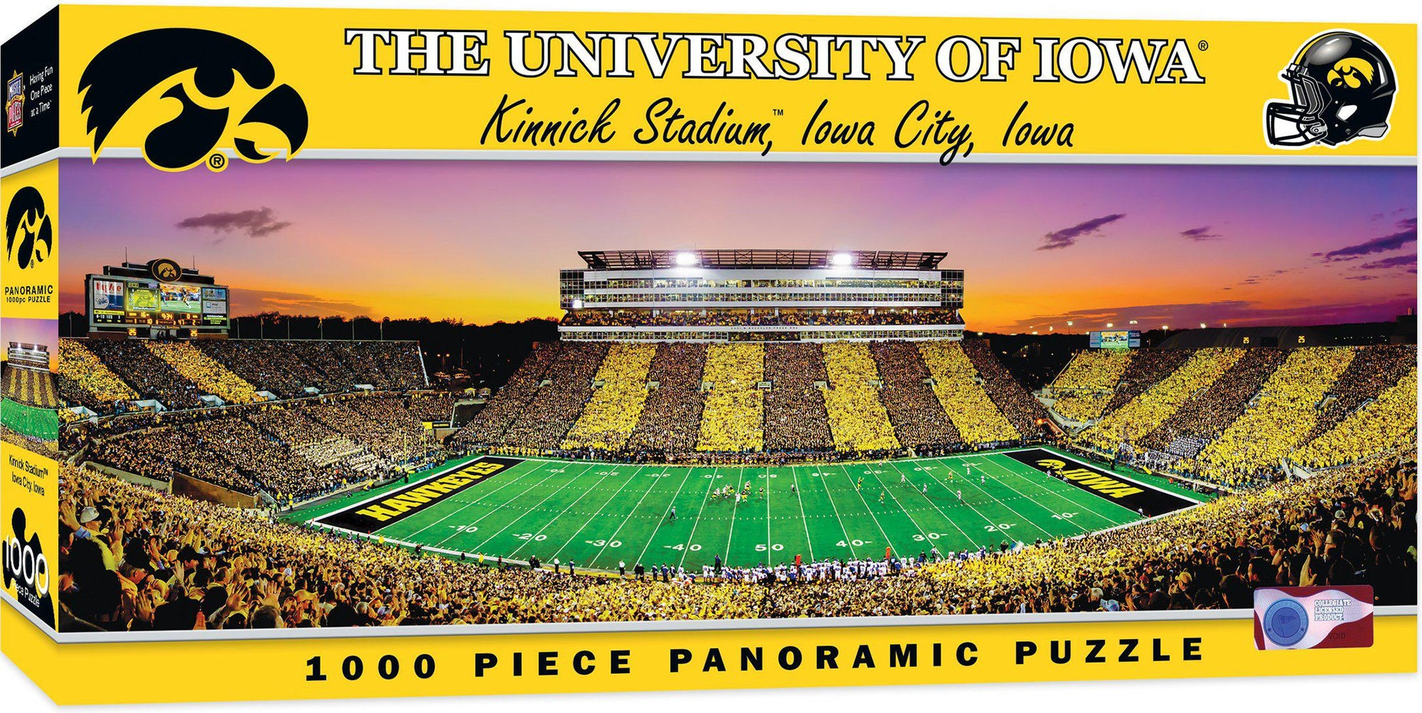 Iowa Hawkeyes Panoramic Stadium 1000 Piece Jigsaw Puzzle-Puzzle-MasterPieces Puzzle Company-Top Notch Gift Shop