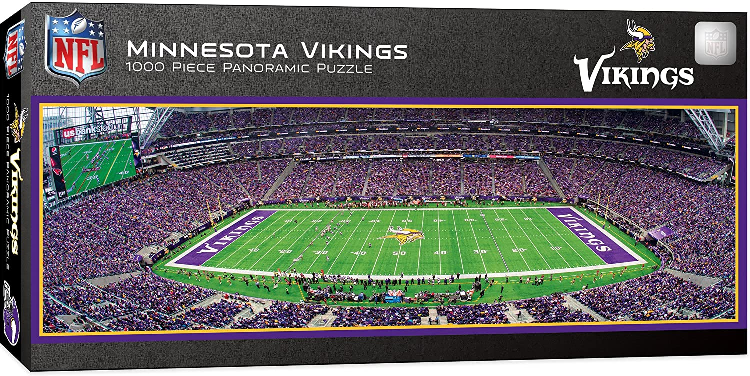 Minnesota Vikings Stadium 1000 Piece Jigsaw Puzzle-Puzzle-MasterPieces Puzzle Company-Top Notch Gift Shop