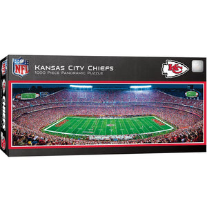 Kansas City Chiefs Stadium 1000 Piece Jigsaw Puzzle-Puzzle-MasterPieces Puzzle Company-Top Notch Gift Shop
