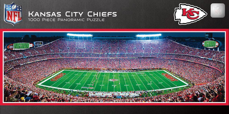Kansas City Chiefs Stadium 1000 Piece Jigsaw Puzzle-MasterPieces Puzzle Company-Top Notch Gift Shop