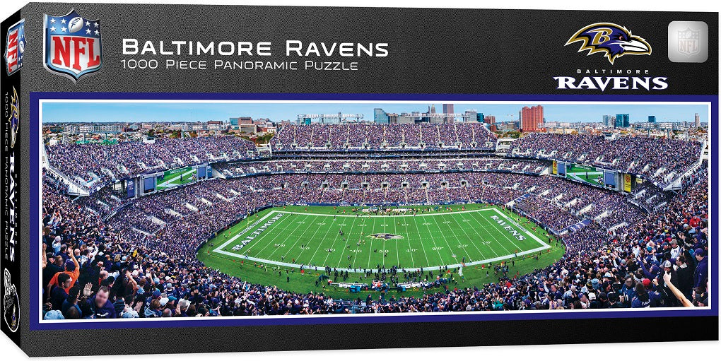 Baltimore Ravens Stadium 1000 Piece Jigsaw Puzzle-Puzzle-MasterPieces Puzzle Company-Top Notch Gift Shop