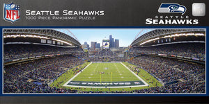 Seattle Seahawks 1,000 Piece Panoramic Puzzle-Puzzle-MasterPieces Puzzle Company-Top Notch Gift Shop