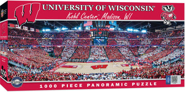Wisconsin Badgers Basketball Arena 1000 Piece Panoramic Jigsaw Puzzle