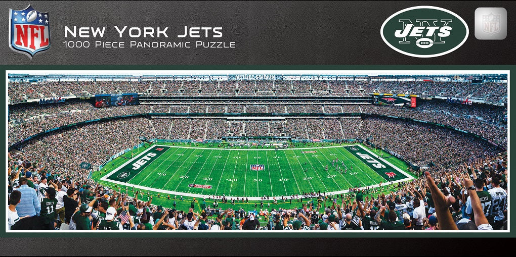 New York Jets Stadium 1000 Piece Jigsaw Puzzle-Puzzle-MasterPieces Puzzle Company-Top Notch Gift Shop