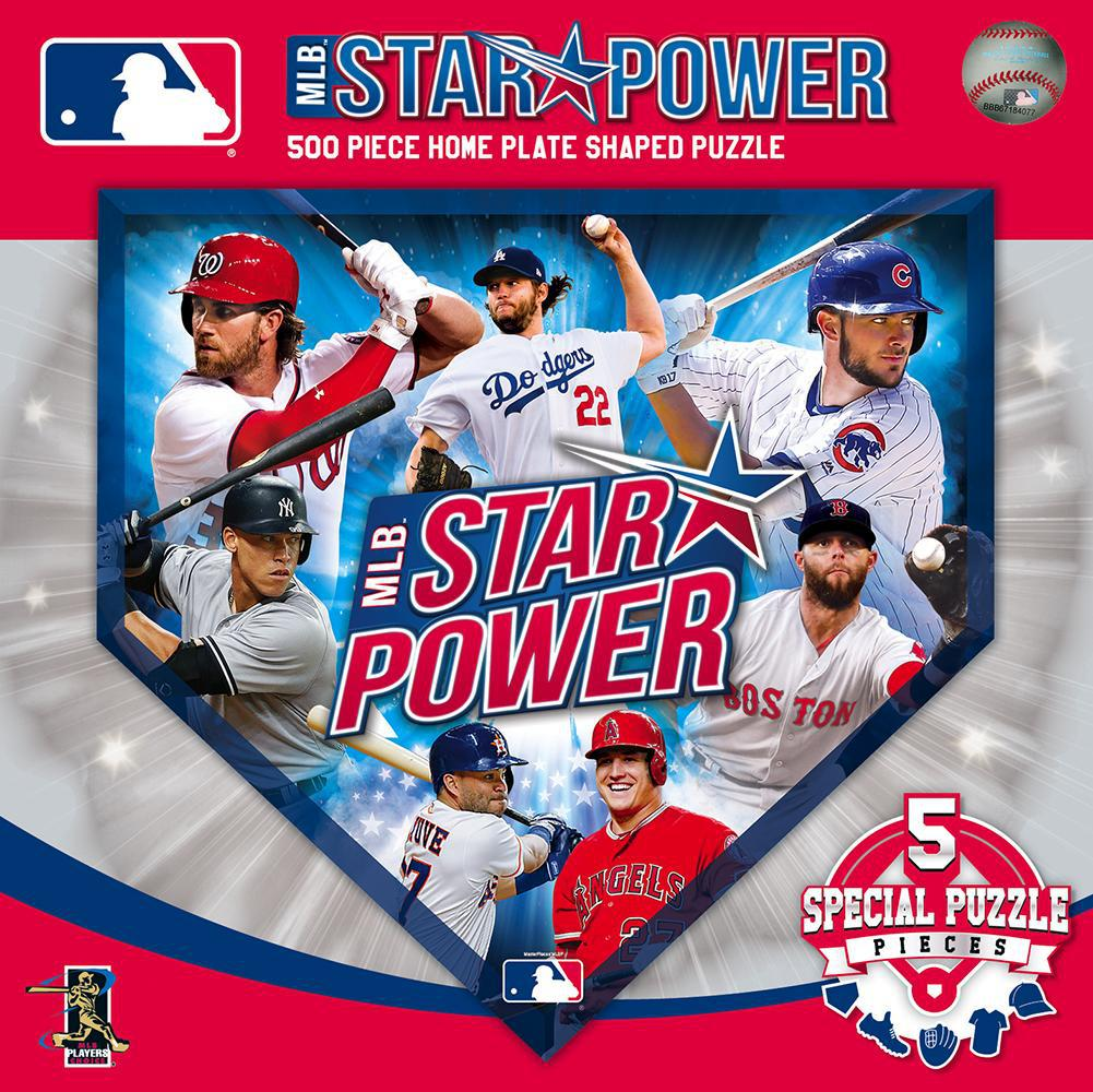 MLB Star Power 500 Piece Home Plate Shaped Puzzle-Puzzle-MasterPieces Puzzle Company-Top Notch Gift Shop
