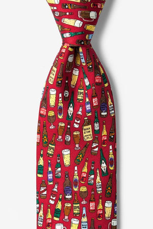 Take One Down, Pass It Around 100% Silk Men's Beer Tie-Necktie-Alynn-Top Notch Gift Shop