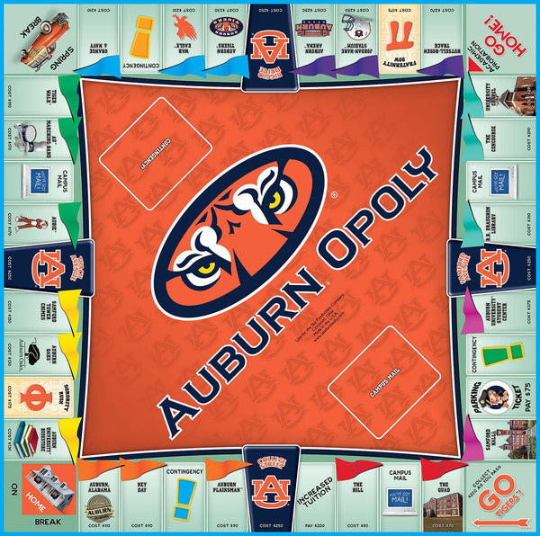 Auburn-opoly - Auburn University Monopoly Board Game-Game-Late For The Sky-Top Notch Gift Shop
