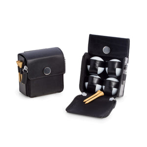 Golf Accessories Set in Black Leather Case-Golf-Bey-Berk-Top Notch Gift Shop