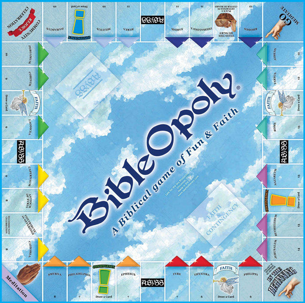 Bible-opoly Monopoly Board Game-Game-Late For The Sky-Top Notch Gift Shop