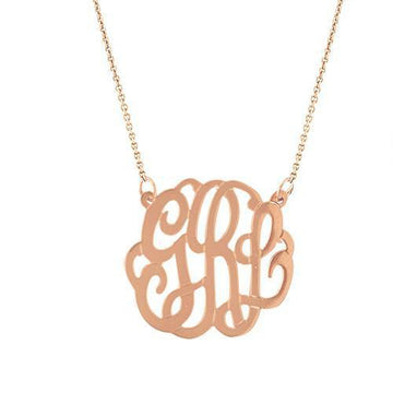 Medium Monogram Necklace - Personalized