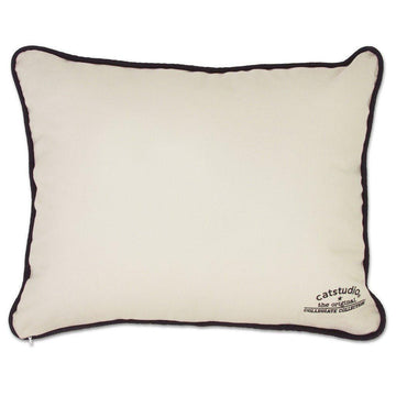 Clemson University Embroidered Catstudio Pillow