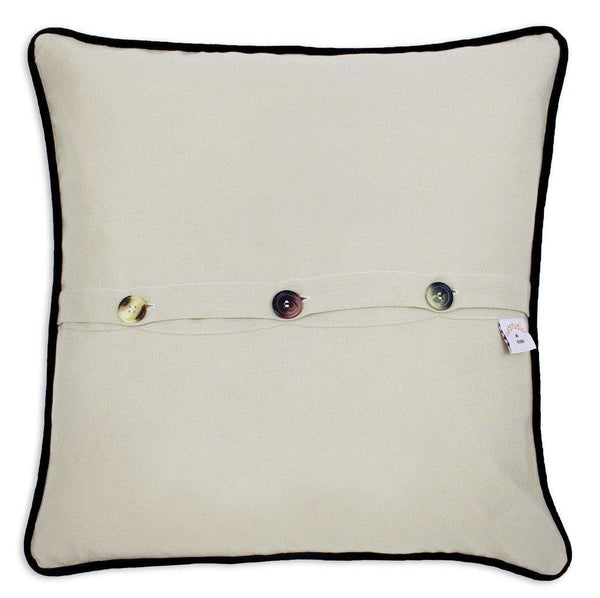 Santa Monica Embroidered Catstudio Pillow-Pillow-CatStudio-Top Notch Gift Shop