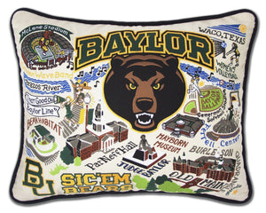 Baylor University Embroidered CatStudio Pillow-Pillow-CatStudio-Top Notch Gift Shop