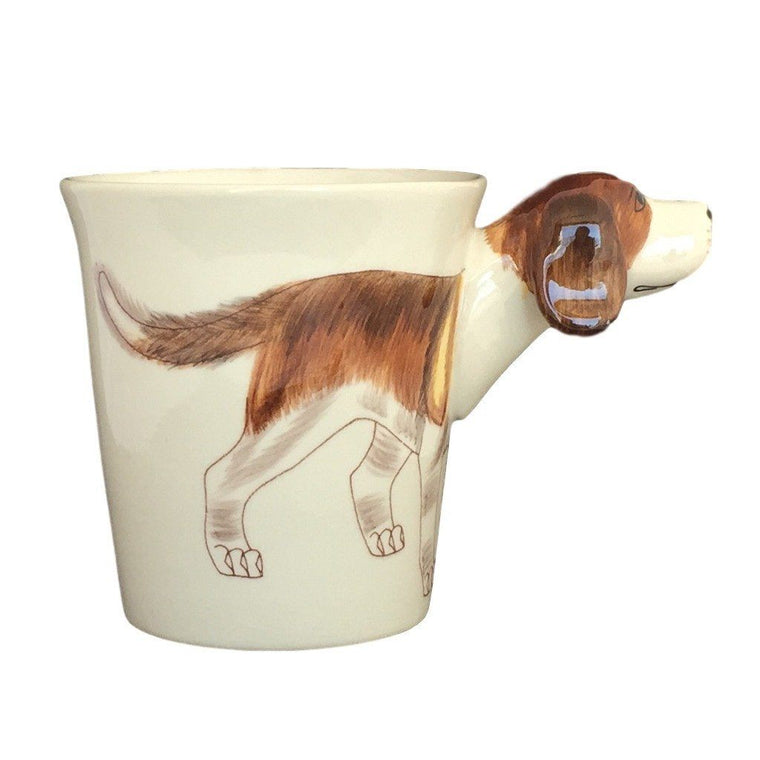 Beagle Handpainted Sculptured Ceramic Mug-Sea Island-Top Notch Gift Shop