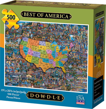 Best of America 500 Piece Puzzle