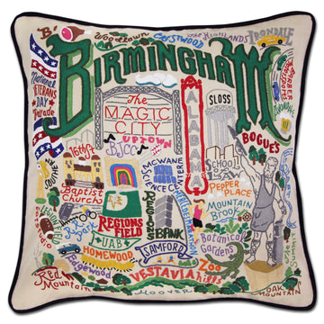 Birmingham Embroidered Catstudio Pillow