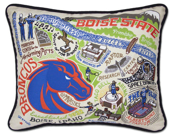 Boise State University Embroidered Catstudio Pillow