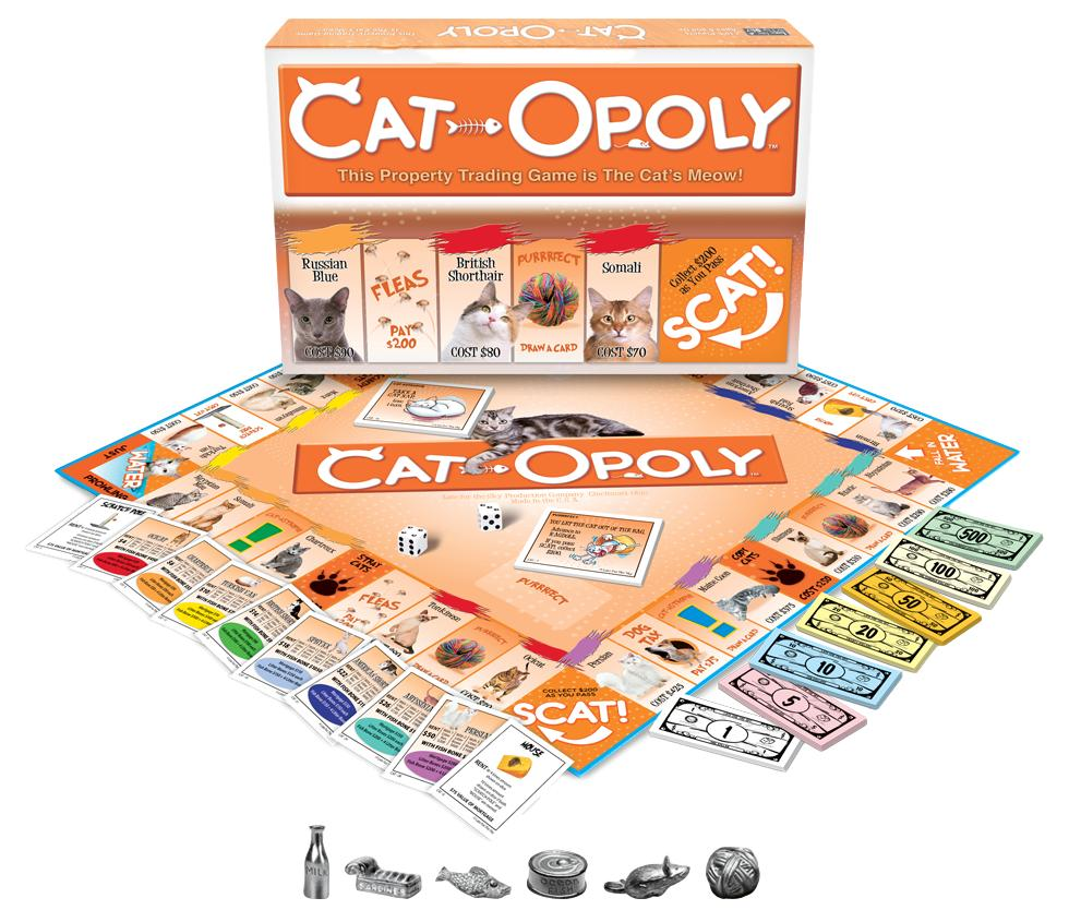 Cat-opoly Monopoly Board Game-Game-Late For The Sky-Top Notch Gift Shop