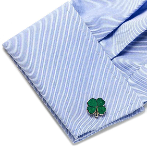 Green Clover Cufflinks-Cufflinks-Cufflinks, Inc.-Top Notch Gift Shop
