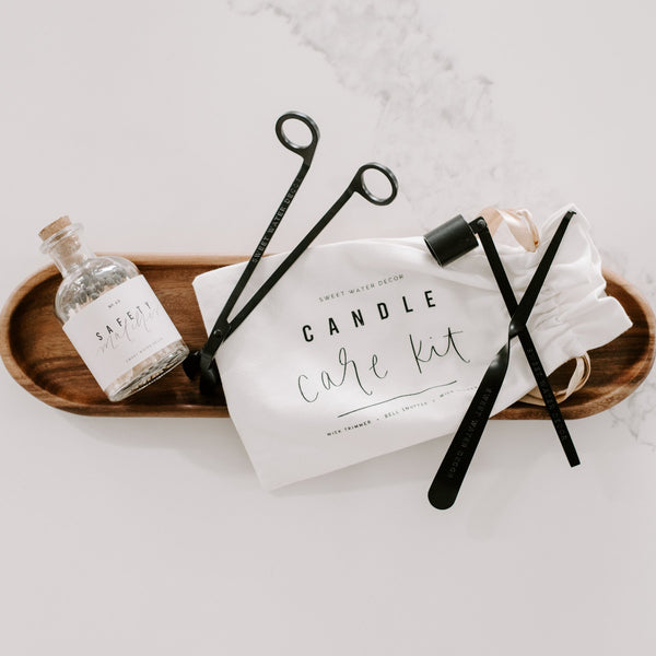 Candle Care Kit - Black-Candle-Sweetwater Decor-Top Notch Gift Shop