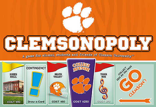 Clemson-opoly - Clemson University Monopoly Game-Game-Late For The Sky-Top Notch Gift Shop