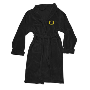 Oregon Ducks Men's Silk Touch Plush Bath Robe - Black