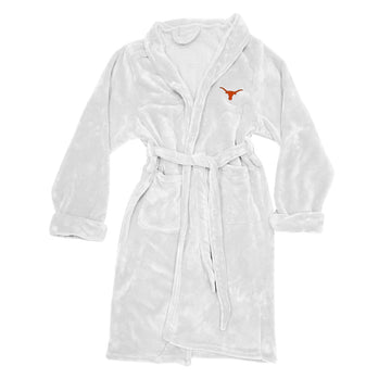 Texas Longhorns Men's Silk Touch Plush Bath Robe - White